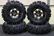 Yamaha Grizzly 660 25 Xl Bear Claw Atv Tire And Ss212 Blk Wheel Kit Irs1ca