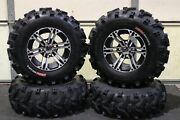 Yamaha Grizzly 660 25 Xl Bear Claw Atv Tire And Ss212 M Wheel Kit Irs1ca