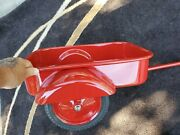 Vintage 1950s Intand039l Harvestr Pedal Car Tractor Tow-behind Trailer Steel-redone