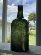 Dark Green Vermont Springs Saxe And Co. Sheldon Vt. Bottle Soda Beer Mineral Water