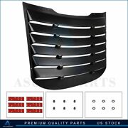 Rear Abs Window Louver Cover Sun Shade Vent 1pcs For 2015-2020 Ford Mustang