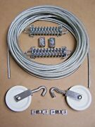 Marine Boat Pulley Tiller Rope Steering Cable 50 Ft, Pulleys, Springs, Clamps 7