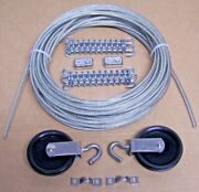 Marine Boat Pulley Tiller Rope Steering Cable 50 Ft, Pulleys, Springs, Clamps 2