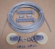 Marine Boat Pulley Tiller Rope Steering Cable 50 Ft, Pulleys, Springs, Clamps 3