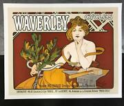 Mucha Foundation Waverley Cycles Limited Edition Fine Art Lithograph S2