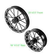 23 Front 18and039and039 Rear Wheel Rim W/ Hub Fit For Harley Street Glide 08-21 Non Abs
