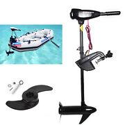 12v 46lbs Outboard Thruster Electric Trolling Motor Fishing Boat Brush Motor Usa