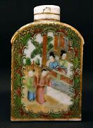 Old Bottle Vial Porcelain Ceramic Canton China Chinese
