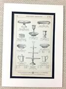 Antique Christofle Print Advert Silver Cake Stand Gateau Stand Serving Plates