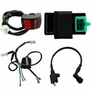 Kill Switch Ignition Coil Cdi Wire Loom For 49-125cc Motorcycle Dirt Pit Bike