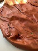 Purple Label Leather Jacket Size Xl Brown Bomber