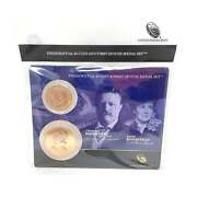 U.s. Mint Presidential 1 Coin And Spouse Medal Set Theodore And Edith Roosevelt