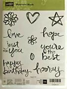 Stampin' Up Watercolor Words 11 Stamps Set - Photopolymer - Happy Birthday, L