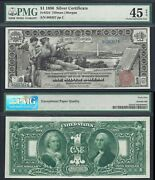 1 1896 Silver Certificate Fr. 224=educational=pmg Choice Extremely Fine 45 Epq