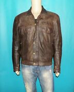 Furygan Jacket Motorcycle Or Town Brown Leather With Protectors Removable T M/l