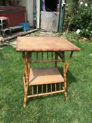 Vintage Bamboo Table Circa 1800s Rare Cottage Table
