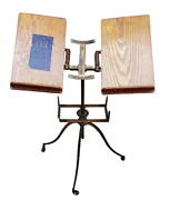 Antique Giffen And Giffen Cast Iron Oak Adjustable Dictionary Bible Book Stand