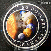 2021 - The Solar System - 50 Pure Silver Glow-in-the-dark Proof Coin - Canada