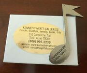 Kenneth Wyatt Galleries Pewter Sculpture Musical Note Paperweight For Notes