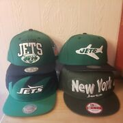Mitchell And Ness New Era Lot Of 4 New York Jets Snapback Adjustable Hat Msrp108