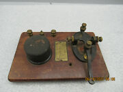 Nice Vintage Signal Electric Telegraph Key Complete Except For Plastic Finger