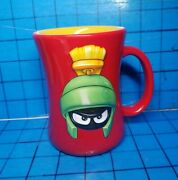 Marvin The Martian Red 3d Coffee Mug Looney Tunes 2001 Xpres Original Label