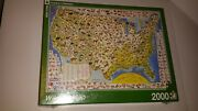 New York Puzzle Company - Wildlife Map - 2000 Piece Puzzle Factory Sealed