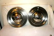 16 Inch 1946 1947 1948 1949 1950 Chevrolet Chevy 2 Hubcaps Wheel Covers Vintage