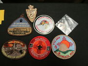 Philmont Scout Ranch Lot Of Patches, Stick Ons And Slide   Eb25