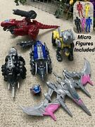 5x Lot Power Rangers The Movie Battle Zord Pink Blue Black Yellow Red Rare Used