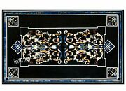 30 X 48 Inch Marble Coffee Table Top Unique Design Inlaid Decent Look Wall Panel