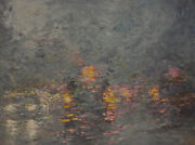 -original Painting By American Artist Jack Jung / Abstract Cityscape Jj-0074ac