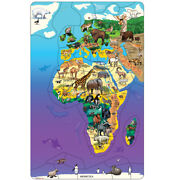 Dowling Magnets� Animal Magnetism� Magnetic Wildlife Map Puzzle Eurasia And Af...