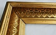 Antique Fits 10 X12 Gold Gilt Picture Frame Stencil Wood Gesso Fine Art Country