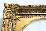 Antique Fits 10 X12 Gold Picture Frame Wood Gesso Ornate Fine Art Country