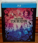 Collection Tim Burton Pack 9 Discs Blu-ray New Sealed Sleeveless Open