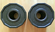 Iron Grip 2.5 Lb Olympic 2 Plates Urethane Coated Set Of Two Total 5 Lbs