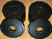 Iron Grip 5 Lb Olympic 2 Plates Urethane Coated Set Of Four Total 20 Lbs
