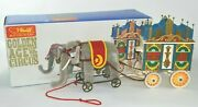Steiff Golden Age Of Circus Elephant And Musical Calliope Wagon 0135/22 And Orig Box