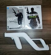 James Bond 007 Quantum Of Solace And Cod Mw3 With Zapper Attachment Bundle Wii