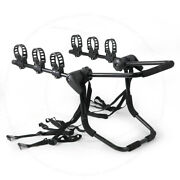 Fit 01-14 Toyota Rear Trunk Bicycle Mount 3-bike Rack Holder Car Carrier