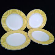 Lenox Kate Spade Wickford Sea Cliffs Stripe Accent Plate Lot Of 4 Luncheon Ex