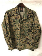 Damaged Usmc Issued Mccuu Woodland Marpat Camouflage Blouse Cammies Small Short