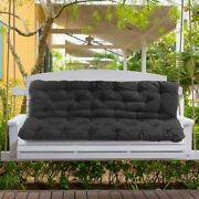 Outdoor 3 Seater Replacement Swing Chair Cushions Patio Garden Bench Seat Pad