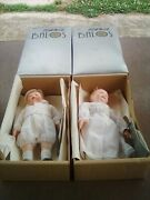 """2 - Vintage Balos Dollcrafters Classic 6"""" Porcelain Baby Dolls - Eve And Peter"""