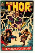 Thor 129 Vg+ Marvel 1966 -1st Appearance Of Ares Hermes Harokin -silver Age