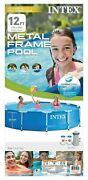 Intex 12' X 30 Metal Frame Above Ground Pool With Filter Pump New Free Ship 💦✅