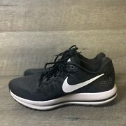 Nike Mens Air Zoom Vomero 12 863762-001 Black Running Shoes Lace Up Size 10