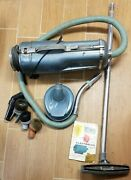 1950and039s Retro Electrolux Canister Vacuum Cleaner Model E Complete Good Suction