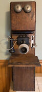 Antique Vintage Stromberg-carlson Wood Double Box Wall Crank Telephone Parts